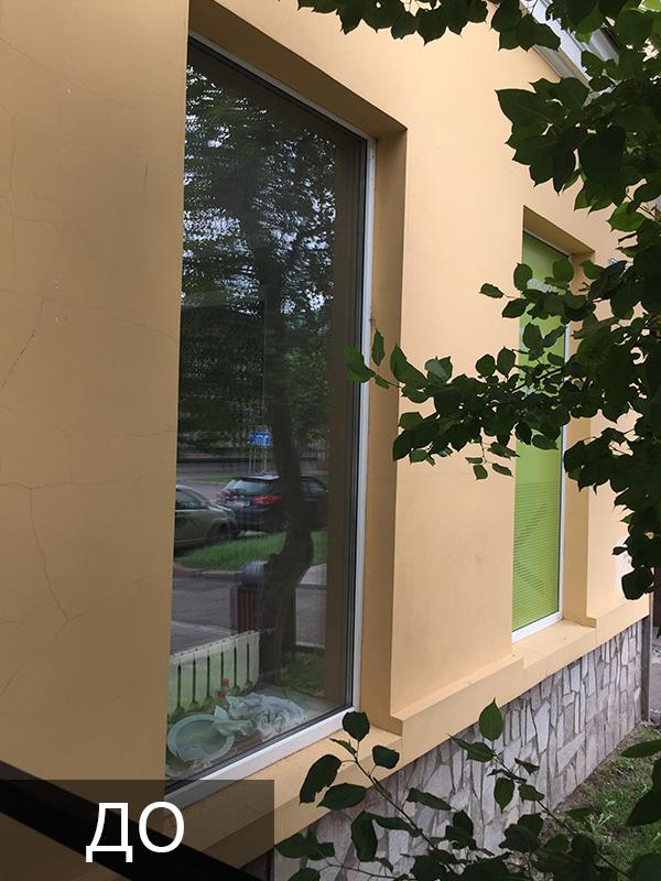 Покраска пластиковых окон в черный цвет